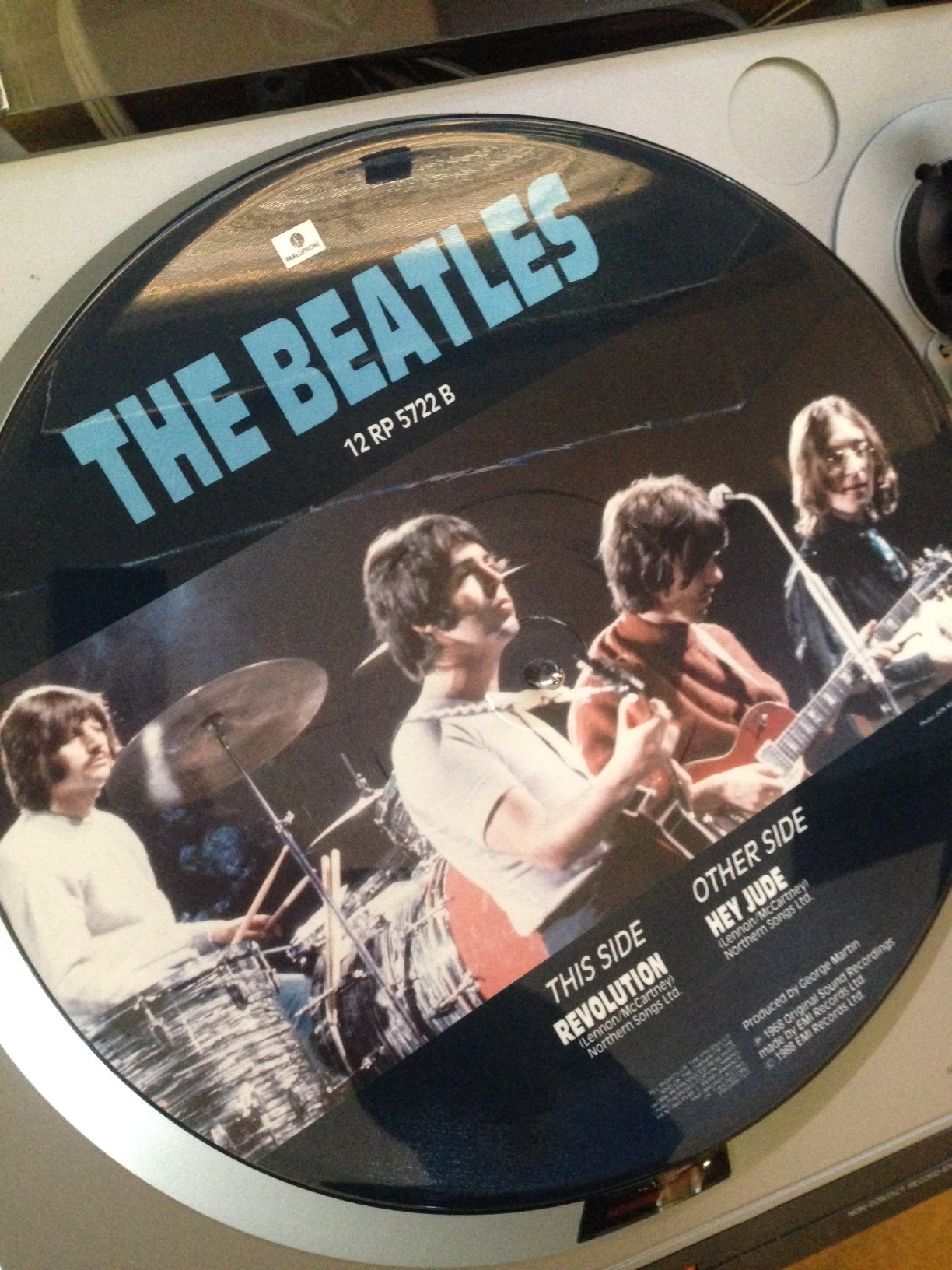 Beatles Hey Jude Revolution 12 Quot 45 Single Picture Disk