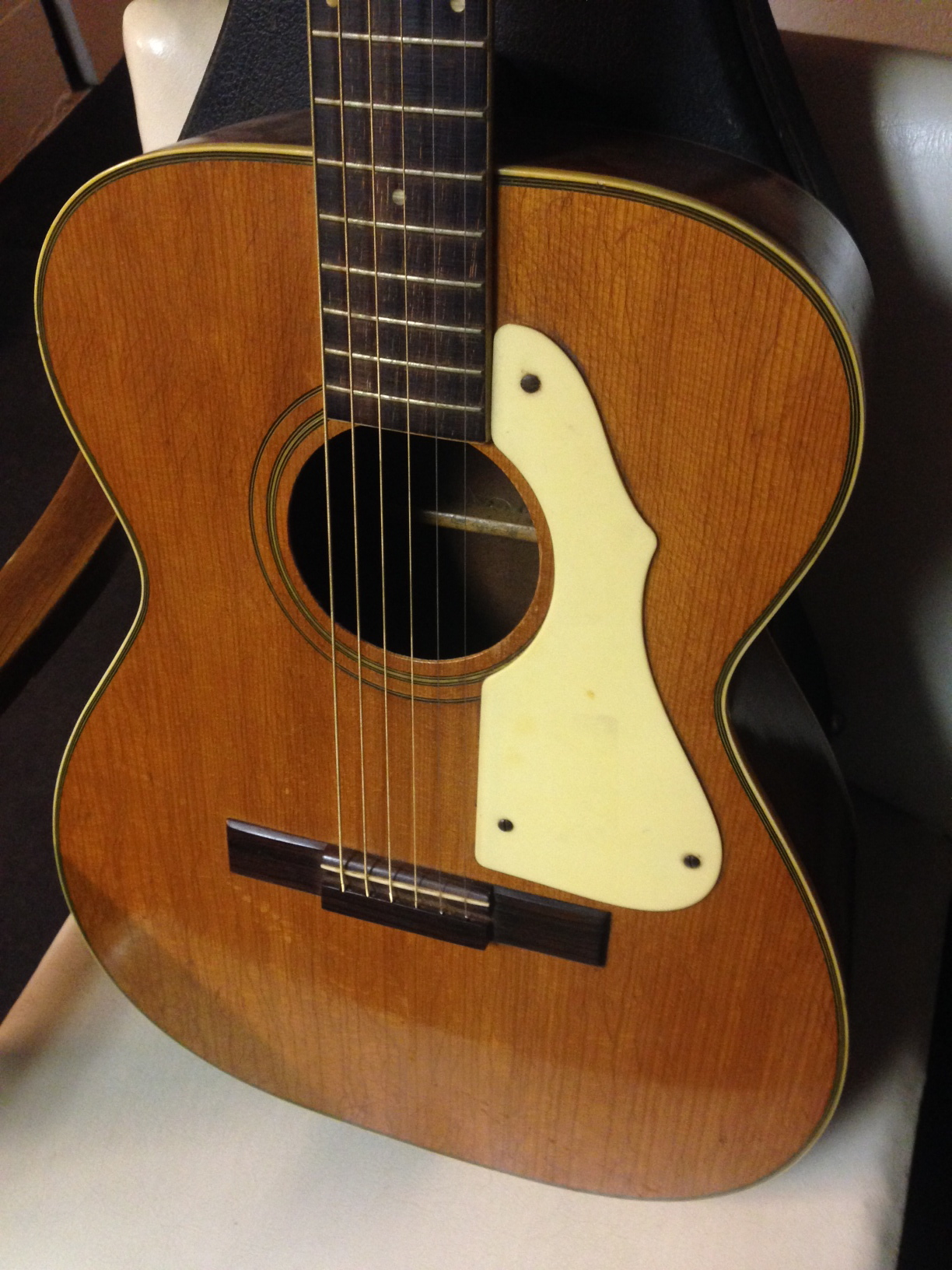 harmony sovereign model acoustic guitar cool vintage slide guitar as is ebay. Black Bedroom Furniture Sets. Home Design Ideas